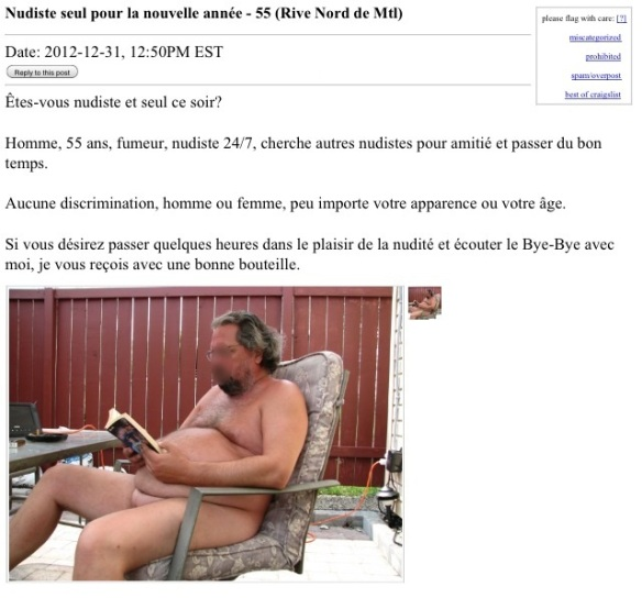 Nude Guy Ad